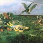 В.М. Васнецов. После побоища Игоря Святославича с половцами. 1880 г.