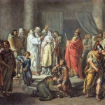 И.А. Акимов. Крещение княгини Ольги в Константинополе.