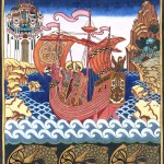 И.Я. Билибин. Святые Борис и Глеб на корабле.