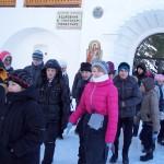 Вход в кедровник монастыря