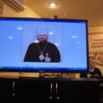 Зачитывается приветствие Митрополита Бориспольского Антония, Украина