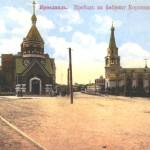 Проезд на фабрику Карзинкина. Почтовая открытка. Начало XX в.