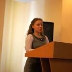 Самая юная участница конференции - Галина Александровна Богомолова, ученица 10 класса школы № 55