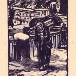 """Топливо. У Египетского моста. Из серии """"Ленинград в дни блокады"""""""