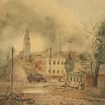 Ярославль. Улица после бомбежки. 1944 г.