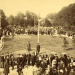 Эстрада и гуляющая публика на Казанском бульваре в Ярославле. 1890–1900-е гг.Фото А. Н. Никаноровой.