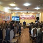 Ведет мероприятие Л.Н. Диканенко, главный библиограф ЦДБ